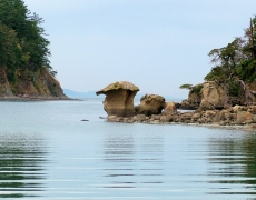 Sandstone mushroom rock, Sucia Island